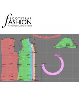 Custom-Fit Sewing Patterns - Capped-Sleeved Ruffle Shirt