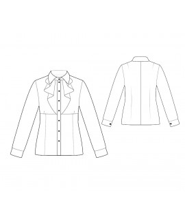 Custom-Fit Sewing Patterns - Long-Sleeved Tuxedo Shirt