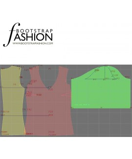 Custom-Fit Sewing Patterns - V-Neck Blouse with Puffy Sleeves