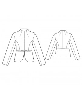 Custom-Fit Sewing Patterns - Tailored Military Style Jacket