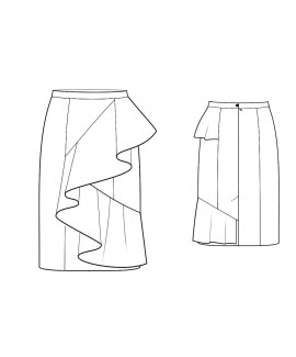 Custom-Fit Sewing Patterns - Ruffle Wrap Skirt