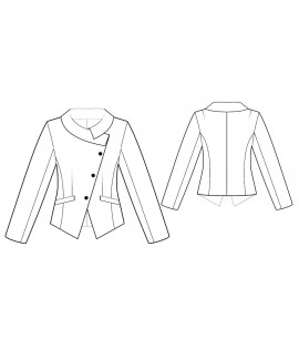 Custom-Fit Sewing Patterns - Long-Sleeved Jacket with Asymmetrical Closing