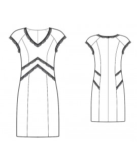 Custom-Fit Sewing Patterns - Lace-trim Cap Sleeve Dress