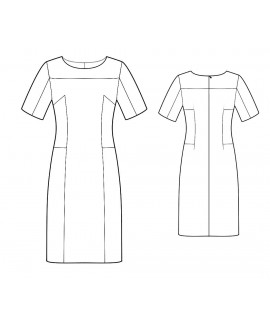 Custom-Fit Sewing Patterns - Boatneck Sculpted Blocked Dress
