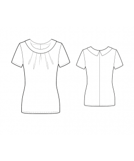 Custom-Fit Sewing Patterns - Portait Neck Top