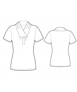 Custom-Fit Sewing Patterns - Short-Sleeved Cowl-Neck Blouse