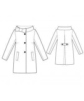 Custom-Fit Sewing Patterns - Three-Button Coat with Portrait Collar