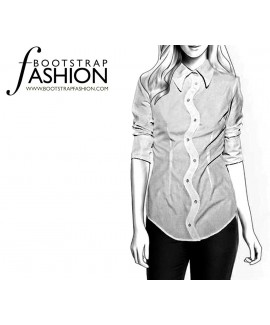Custom-Fit Sewing Patterns - Shirt with Zig-Zag Button Closure