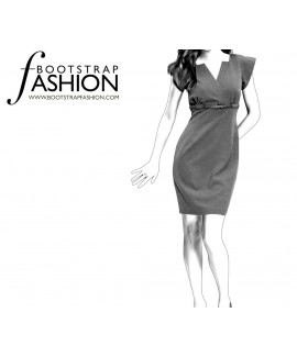 Custom-Fit Sewing Patterns - High Waist Tailored Dress