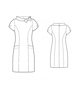 Custom-Fit Sewing Patterns - Portrait Stand Collar Dress