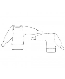 Custom-Fit Sewing Patterns - Blouse with Kimono Sleeves