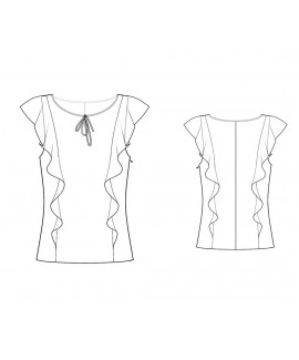 Custom-Fit Sewing Patterns - Capped-Sleeve Ruffle Blouse
