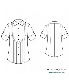 Custom-Fit Sewing Patterns - Tunic With Pleated Front