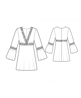 Custom-Fit Sewing Patterns - Bell Sleeve Tunic Dress