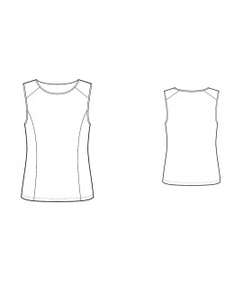 Custom-Fit Sewing Patterns - Paneled Knit Top