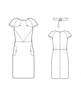 Custom-Fit Sewing Patterns - Trench-coat Inspired Dress
