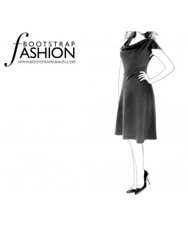 Custom-Fit Sewing Patterns - Cowl Neck Dress