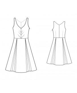Custom-Fit Sewing Patterns - Flt-And-Flare Sleeveless Dress