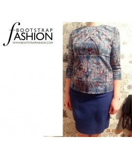Custom-Fit Sewing Patterns - Draped Bodice Knit Top