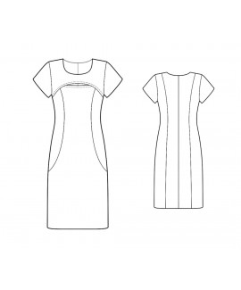 Custom-Fit Sewing Patterns - Front Slit Knit Dress