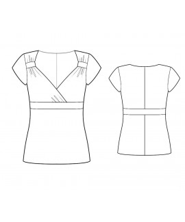 Custom-Fit Sewing Patterns - Sweetheart Top With Surplice Neckline With Empire Waistband