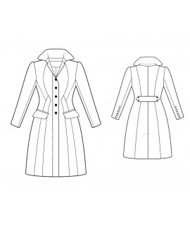 Custom-Fit Sewing Patterns - Multi-Seamed Fitted Coat with Elizabethan Collar