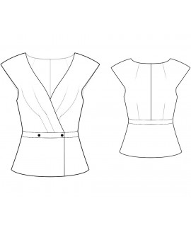 Custom-Fit Sewing Patterns - Capped-Sleeve V-Neck Jacket