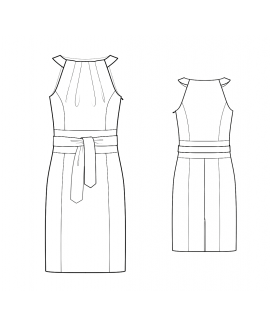 Custom-Fit Sewing Patterns - Obi Style Halter Dress