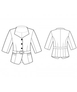 Custom-Fit Sewing Patterns - Sweetheart Neck Cropped Jacket