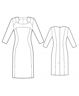 Custom-Fit Sewing Patterns - Color/Print Blocked Dress