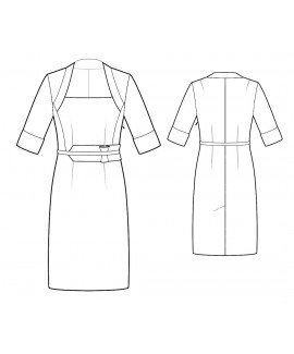 Custom-Fit Sewing Patterns - Faux Shrug Dress