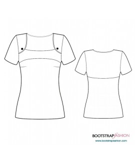 Custom-Fit Sewing Patterns - Knit Top With Yoke