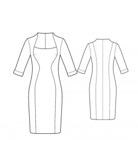Custom-Fit Sewing Patterns - Fitted Color Block Dress