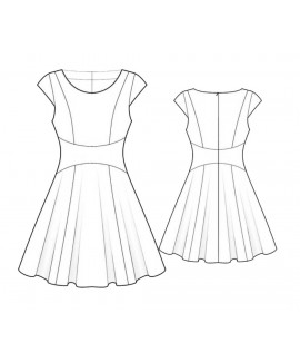 Custom-Fit Sewing Patterns - Fit-and-Flare Dress With Curved Waistband