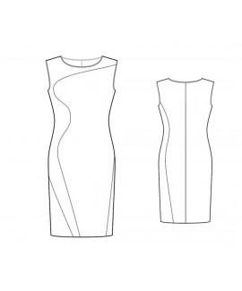 Custom-Fit Sewing Patterns - Curved Color Block Knit Dress