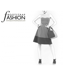Custom-Fit Sewing Patterns - Shirt Collar Fit and Flare Dress