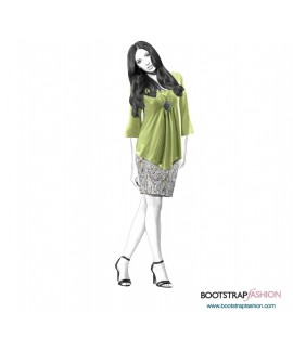 Custom-Fit Sewing Patterns - Knit Tunic With Draping