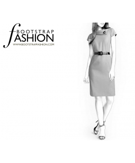 Custom-Fit Sewing Patterns - High Collar Sheath Dress