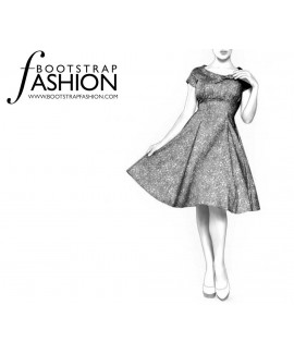 Custom-Fit Sewing Patterns - Empire Waist Fit-and-Flare Dress