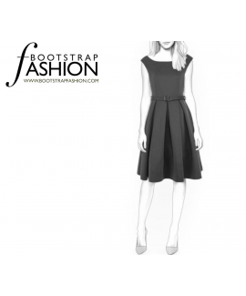 Custom-Fit Sewing Patterns - Bateau Neck, Fit And Flare Dress