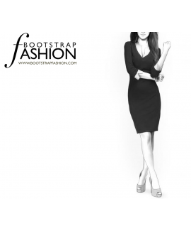 Custom-Fit Sewing Patterns - Layered Look Knit Dress