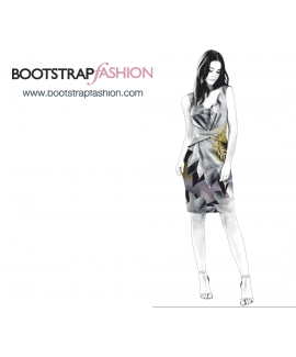 Custom-Fit Sewing Patterns -  Fitted Cinched Waist Sheath