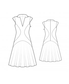 Custom-Fit Sewing Patterns - Multi Seam A-line Polo Dress