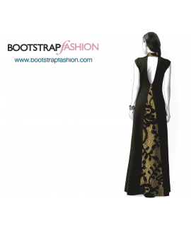 Custom-Fit Sewing Patterns - Gown With Back Opening