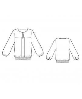 Custom-Fit Sewing Patterns - Keyhole Blouse With Draped Sleeves