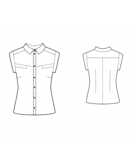 Custom-Fit Sewing Patterns - Short-Sleeved Blouse With Yoke