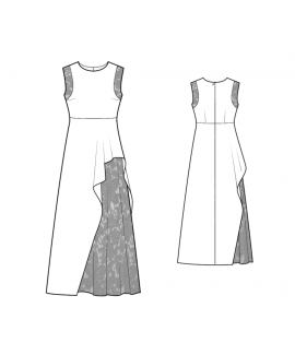 Custom-Fit Sewing Patterns - Gown With 2 Layers Skirt