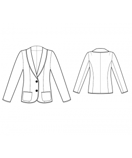 Custom-Fit Sewing Patterns - Knit Jacket With Shawl Collar