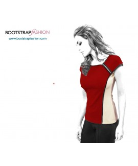 Custom-Fit Sewing Patterns - Asymmetrical Knit Top