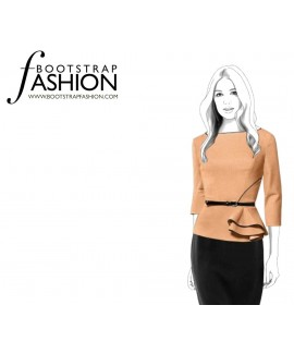Custom-Fit Sewing Patterns - Asymmetrical Blouse With Peplum
